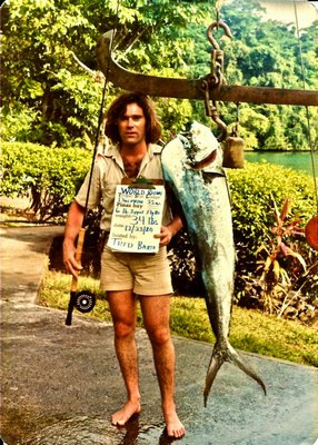 This 35 pound dolphin, or mahi mahi, Tred Barta caught in Pinas Bay, Panama in 1980 is still the fly rod world record for 6-pound test tippet.