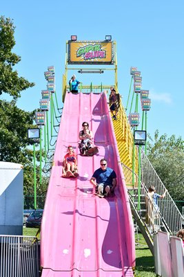 The Super Slide at the San Gennaro Feast of the Hamptons.