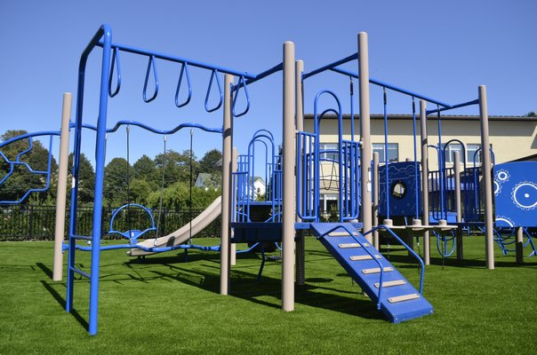 The new playground area at Our Lady of the Hamptons School. ANISAH ABDULLAH