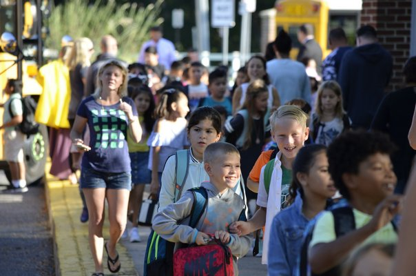 Hampton Bays Elementary School students had their first day of school on Tuesday, September 3. ANISAH ABDULLAH