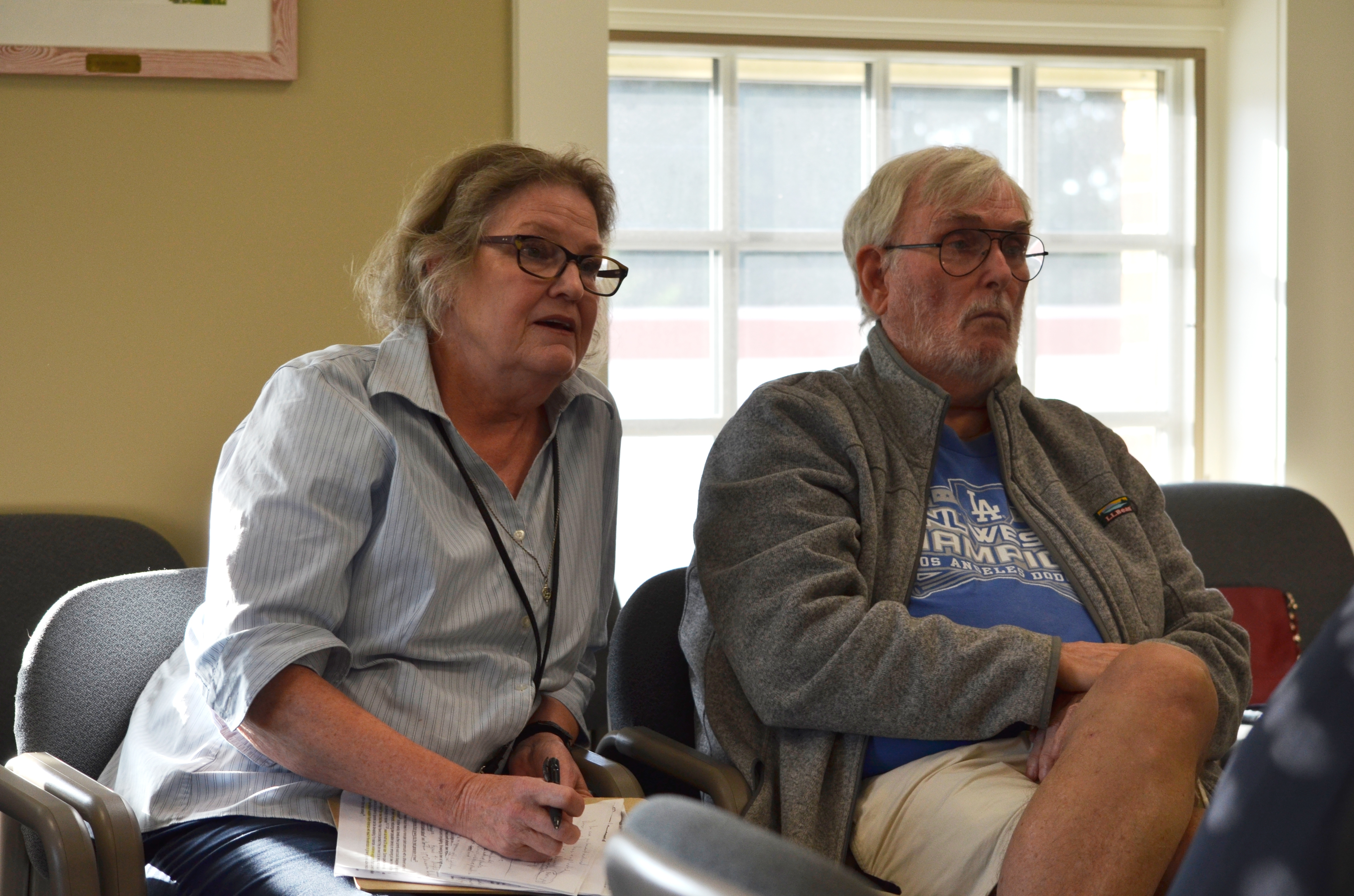 Westhampton Beach residents Jeanne and Dean Speir supported allowing deer fence to be eight feet tall at the latest village work session. ANISAH ABDULLAH