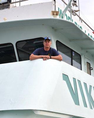 Carl Forsberg aboard the Viking Starship.