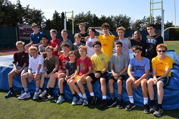 The East Hampton boys cross country team has over 20 runners on this year's team.
