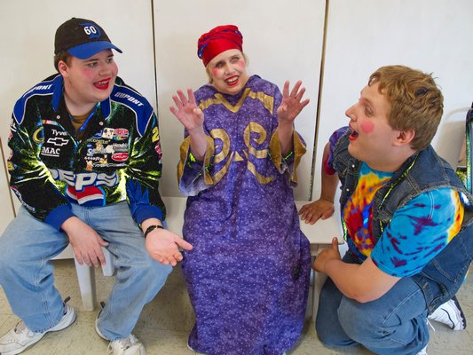 From left, Justin Brown, Diane Alderman and Timmy Motyka in East End Special Players' production of