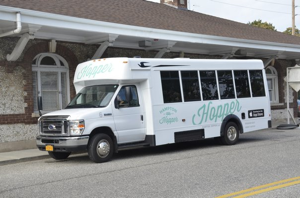 State Assemblyman Fred W. Thiele Jr. is proposing to drop the $1 charge to ride the shuttle bus as part of the South Fork Commuter Connection, dropping the price to $3.25 instead of $4.25. GREG WEHNER
