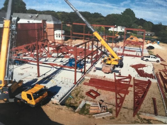 A drone photo of the construction. COURTESY SCHOOL CONSTRUCTION CONSULTANTS INC