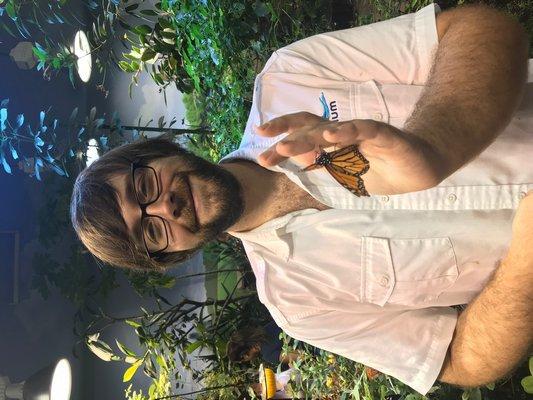 Jeffry Petracca, entomalogy curator for the Long Island Aquarium and Exhibtion Center. ELIZABETH VESPE