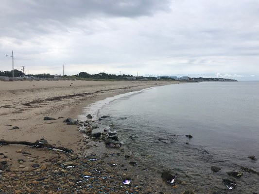 More than 300,000 tons of sand dredged from the inlet would be pumped onto the shoreline west of the harbor when the inlet is dredged.