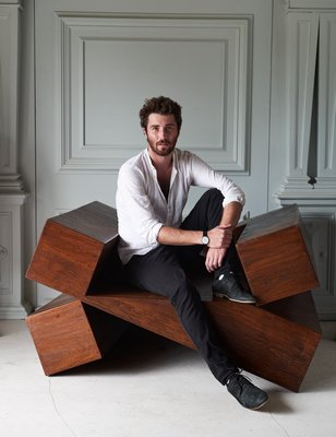 Furniture designer Maximilian Eicke of Max ID NY. BJORN WALLANDER