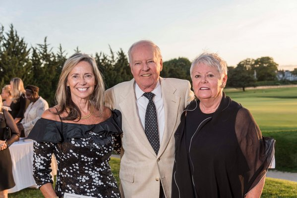 From left to right: Sherry Patterson, chair of the Peconic Bay Medical Center Board of Directors, Michael Corey and Emilie Corey, chair of the Peconic Bay Medical Center Foundation Board of Directors. COURTESY PECONIC BAY MEDICAL CENTER
