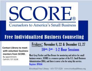 SCORE Free Individualized Business Counseling
