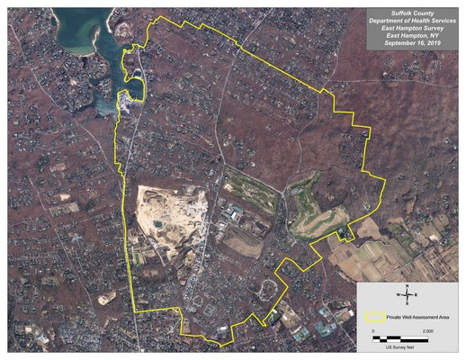 Suffolk County will begin testing private water wells in the neighborhoods surrounding the East Hapton Town landfill and Springs-Fireplace Road commercial corridor because of concerns about potential groundwater contamination from the former landfill and from composting operations at the recycling center and other properties in the area.