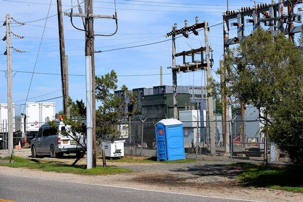 Generators at the Montauk substation.   KYRIL BROMLEY