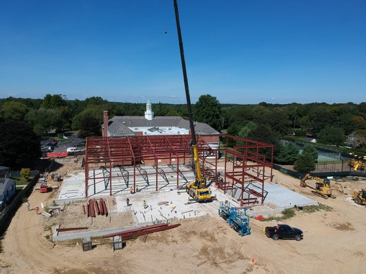 A drone photo of the construction. COURTESY SUPERINTENDENT ROBERT HAUSER
