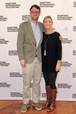 HIFF artistic director David Nugent with HIFF executive director Anne Chaisson.