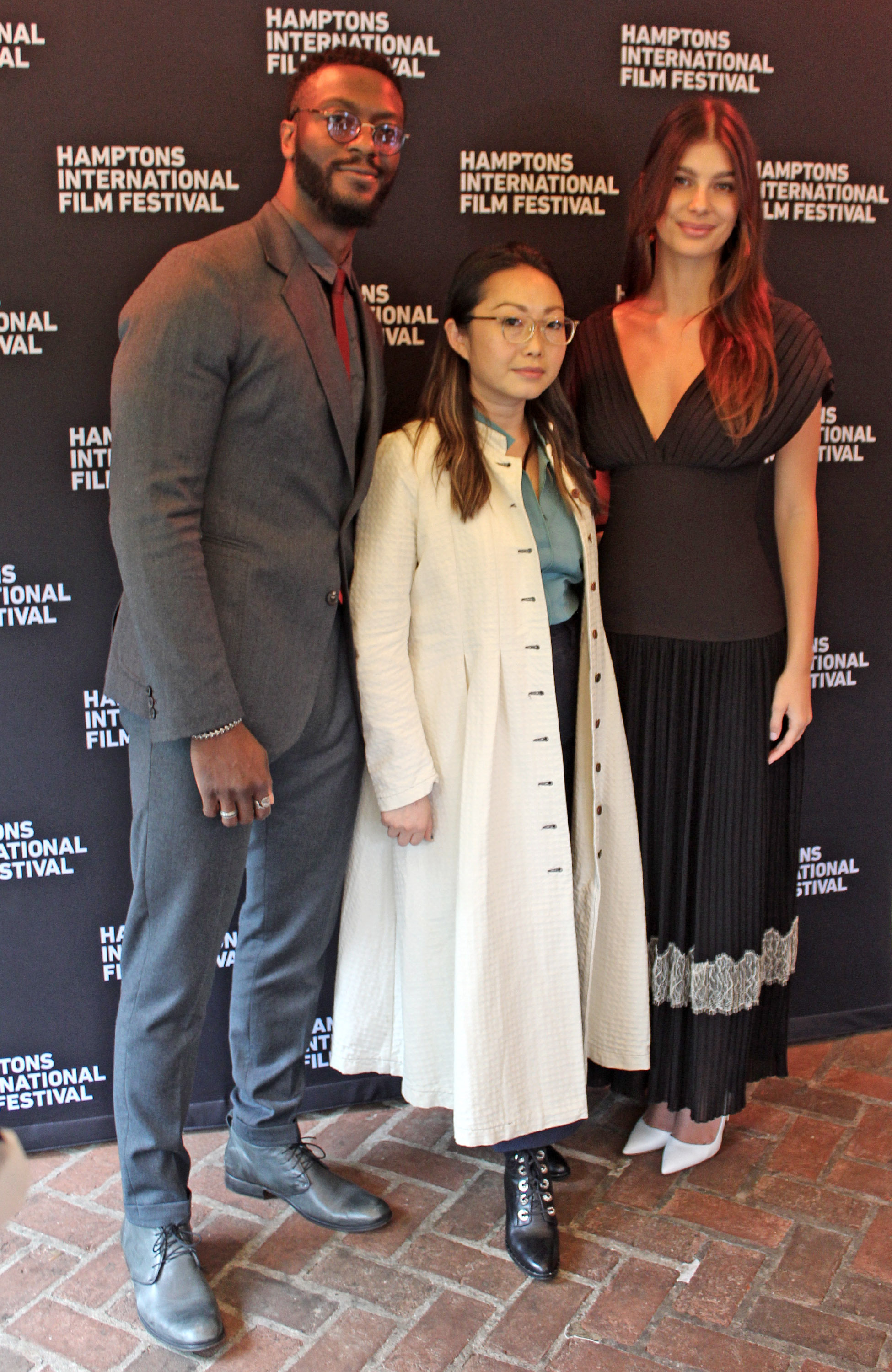 HIFF 2019 Breakthrough Artists, from left, Aldis Hodge, Lulu Wang, and Camilla Marrone.