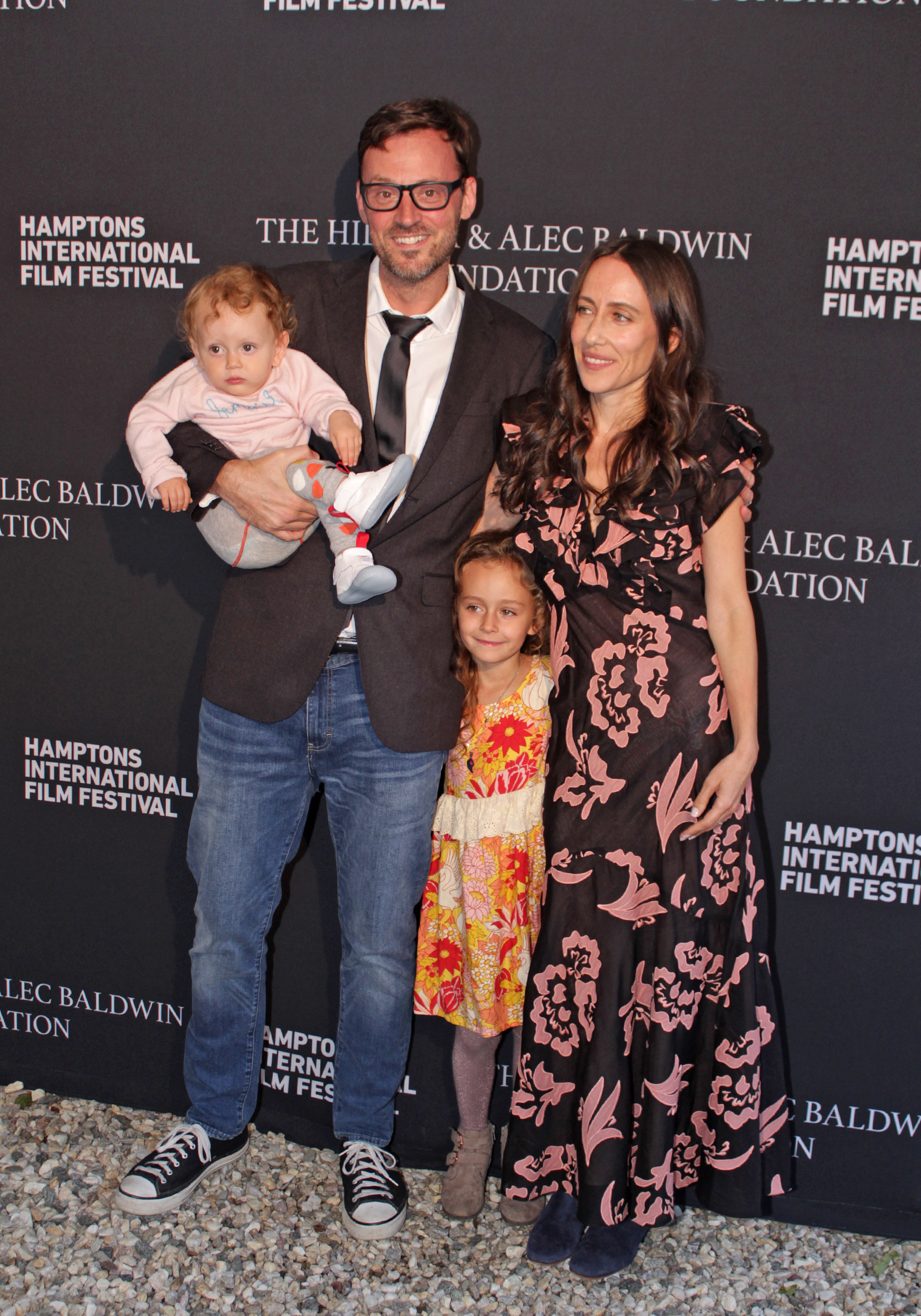 HIFF artistic director David Nugent with his wife Violet and their children.