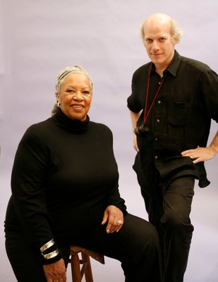 Toni Morrison and Timothy Greenfield-Sanders behind the scenes of