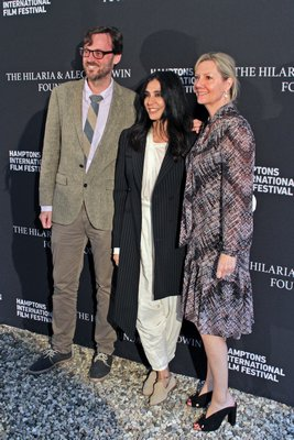 Actress Nadine Labaki, center, with HIFF artistic director David Nugent, left, and HIFF executive director Anne Chaisson, right, at the 2018 festival.