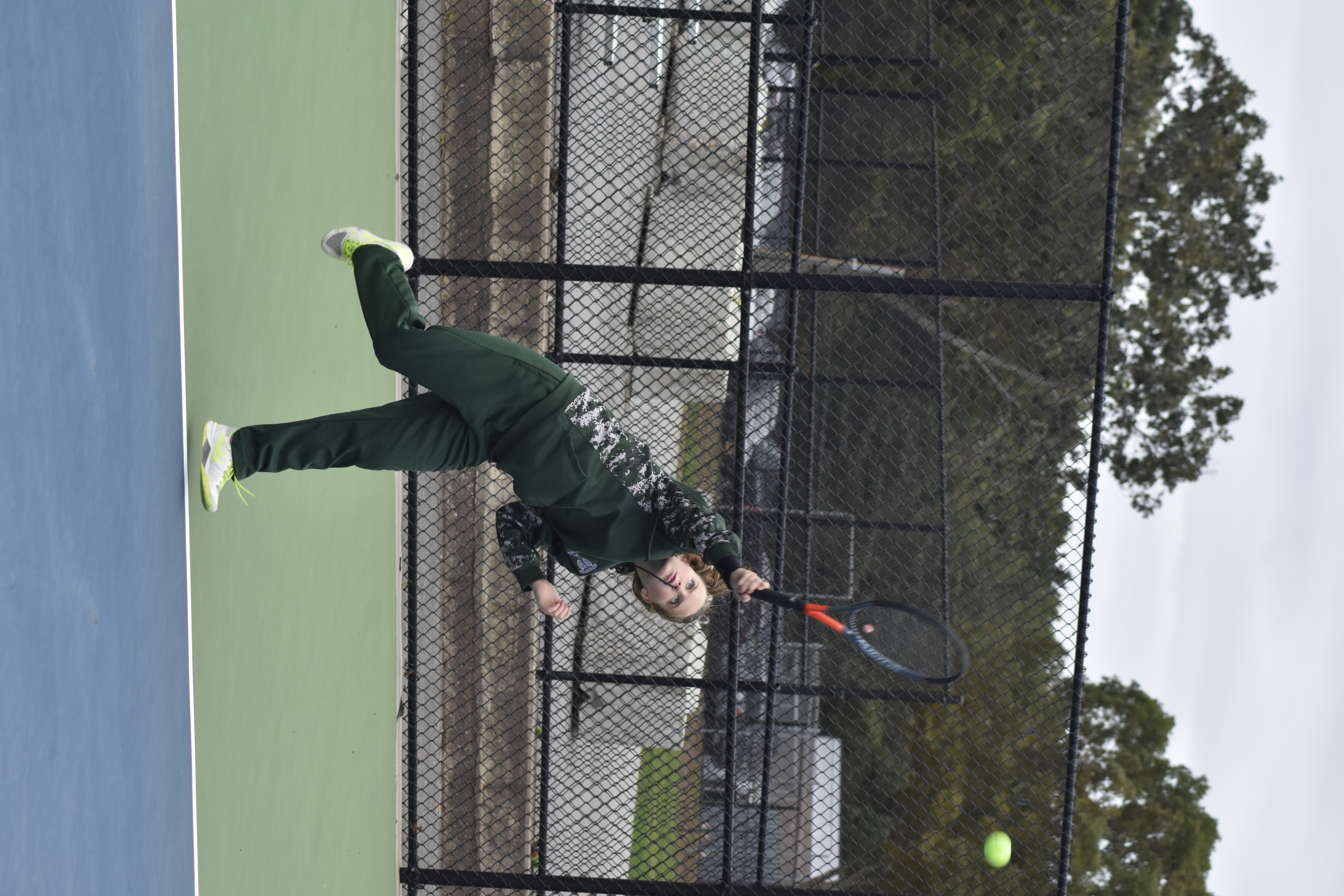 Katelyn Stabile placed second in the Division IV singles draw, behind teammate Rose Hayes.