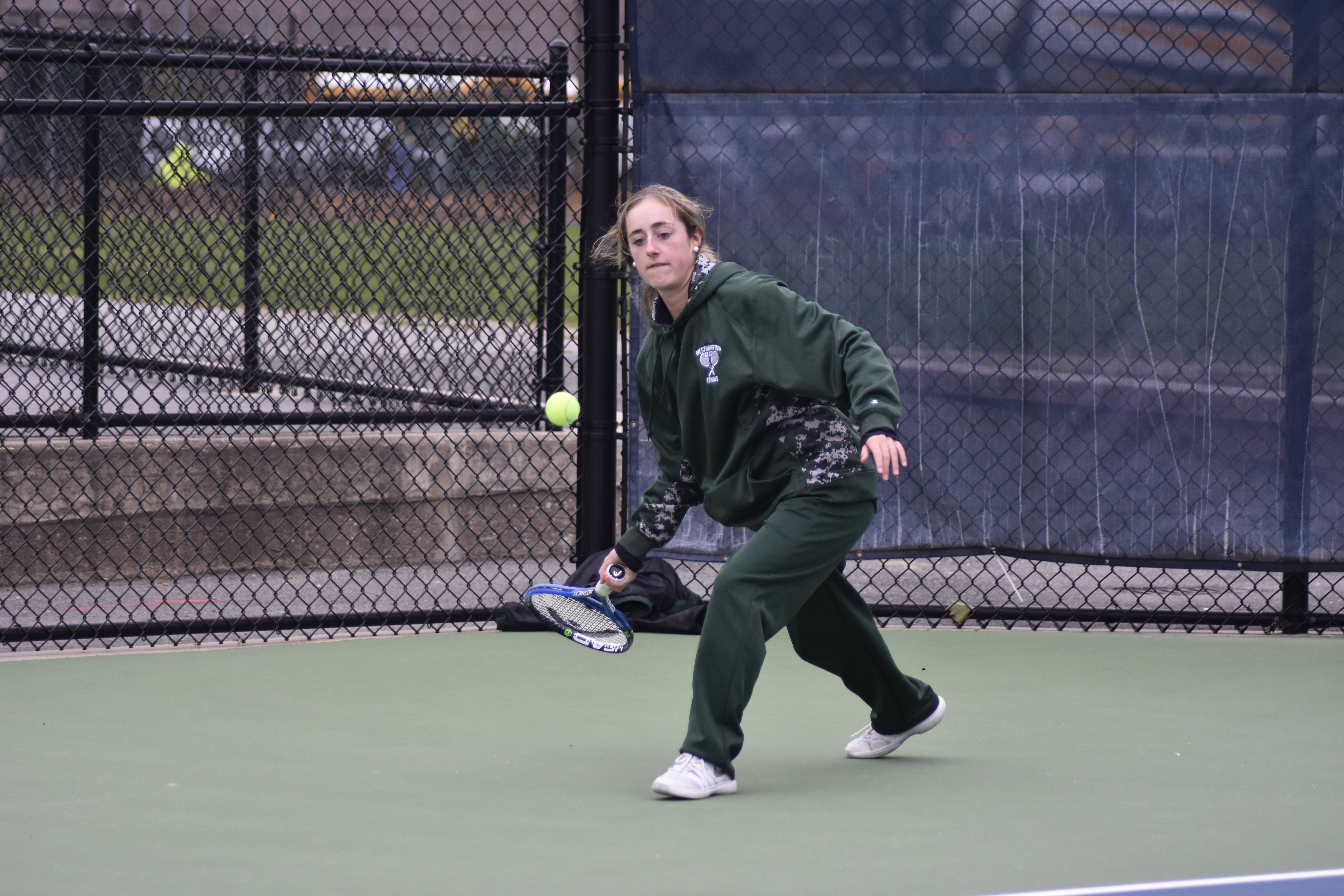Jen Curran, pictured, won the doubles title with teammate Rose Peruso
