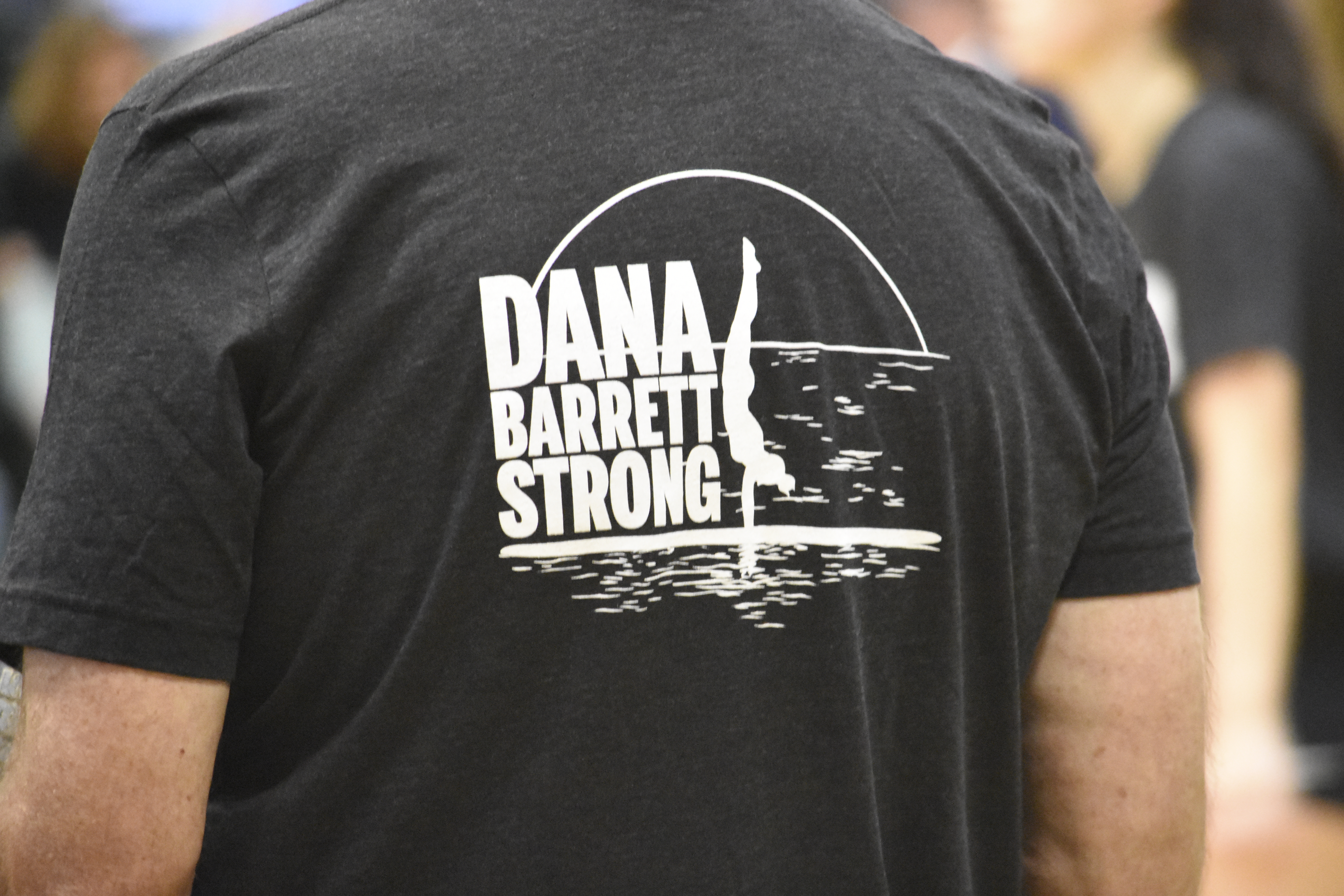 Friday's game was in support of Dana Barrett, a Westhampton Beach graduate who suffered a C2 fracture of her spine in a pool accident, resulting in paralysis from the neck down and the inability to breathe on her own.