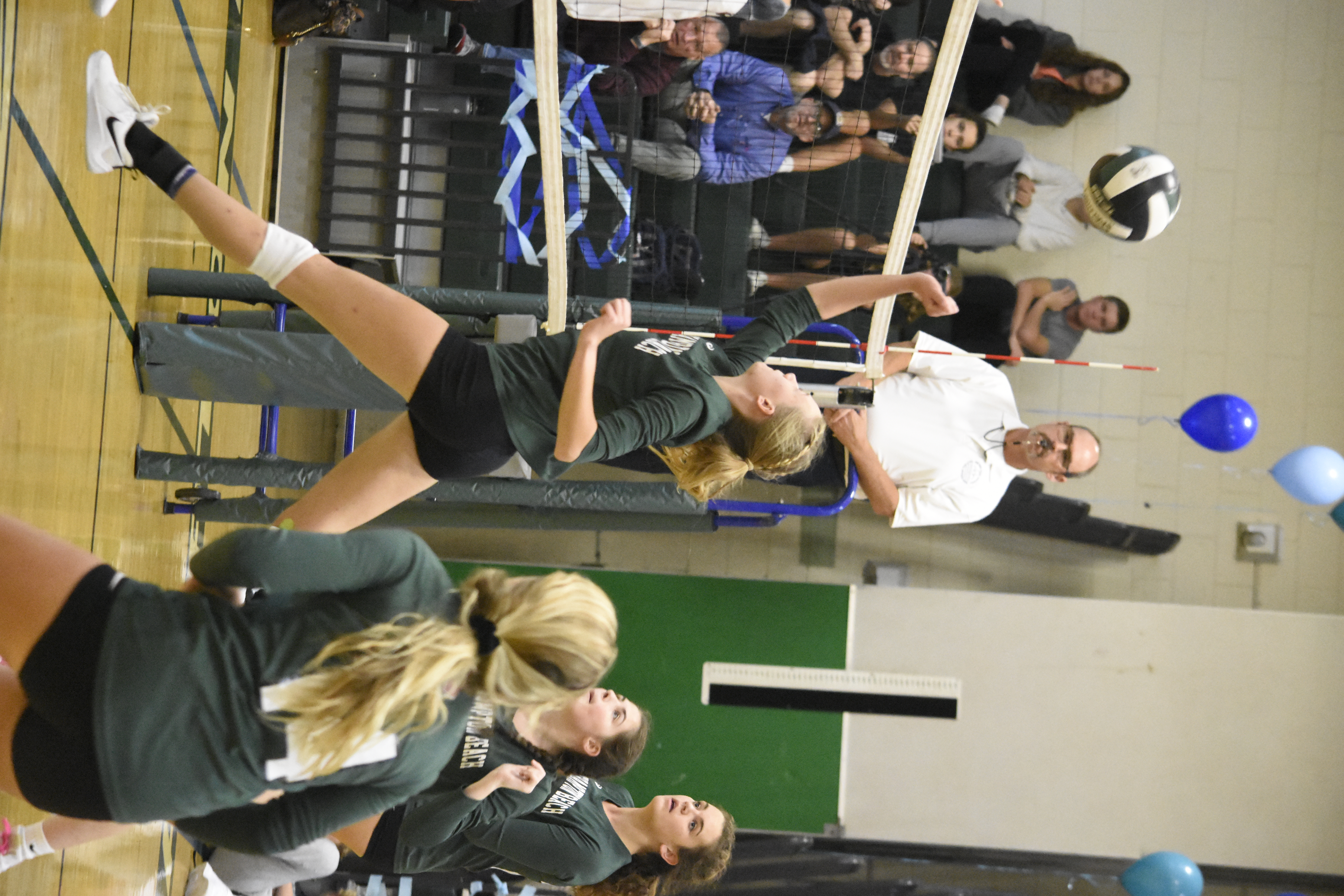 Senior Michelle Kryl led Westhampton Beach with 15 kills in Friday's 3-2 loss.