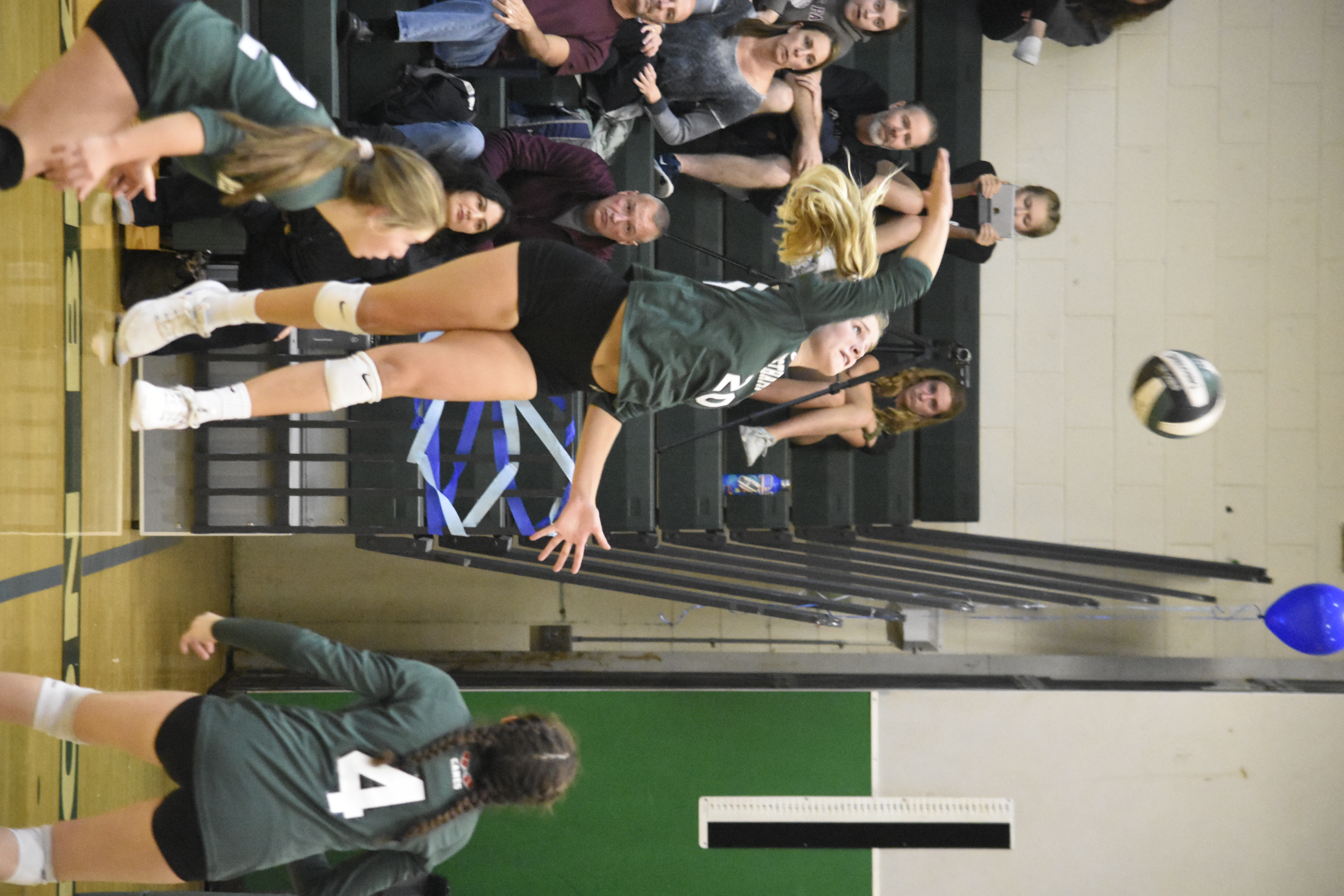 Sophomore Emmie Koszalka provided the Lady 'Canes with good offense on Friday with 12 kills.