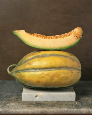 Bidwell Casaba, an inodorus group melon, from California.