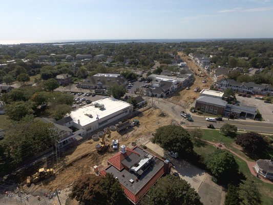 Westhampton Beach Main Street is currently closed to traffic while improvements are underway.
