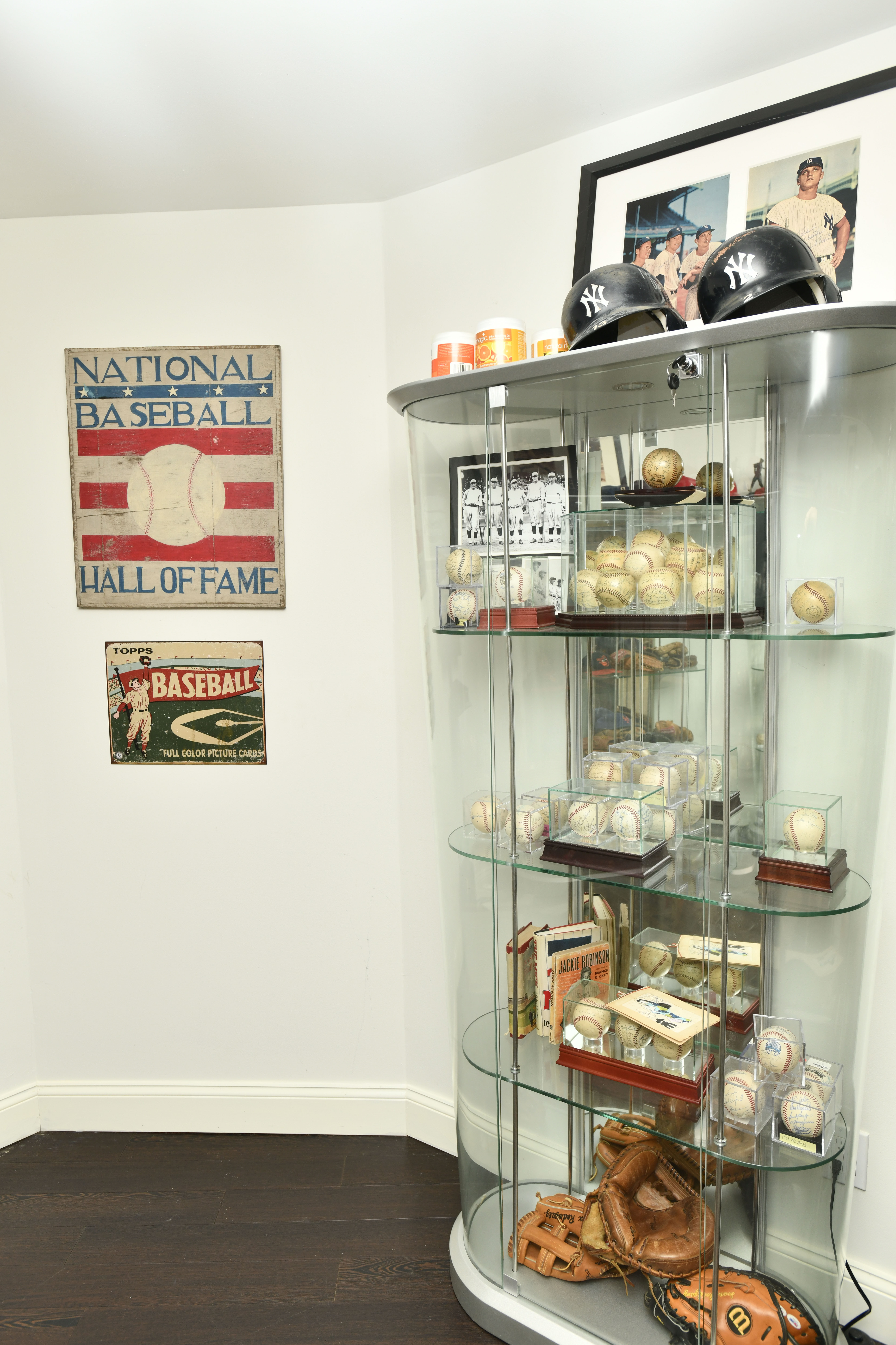 A portion of Rick Friedman's extensive collection of baseball memorabilia. DANA SHAW