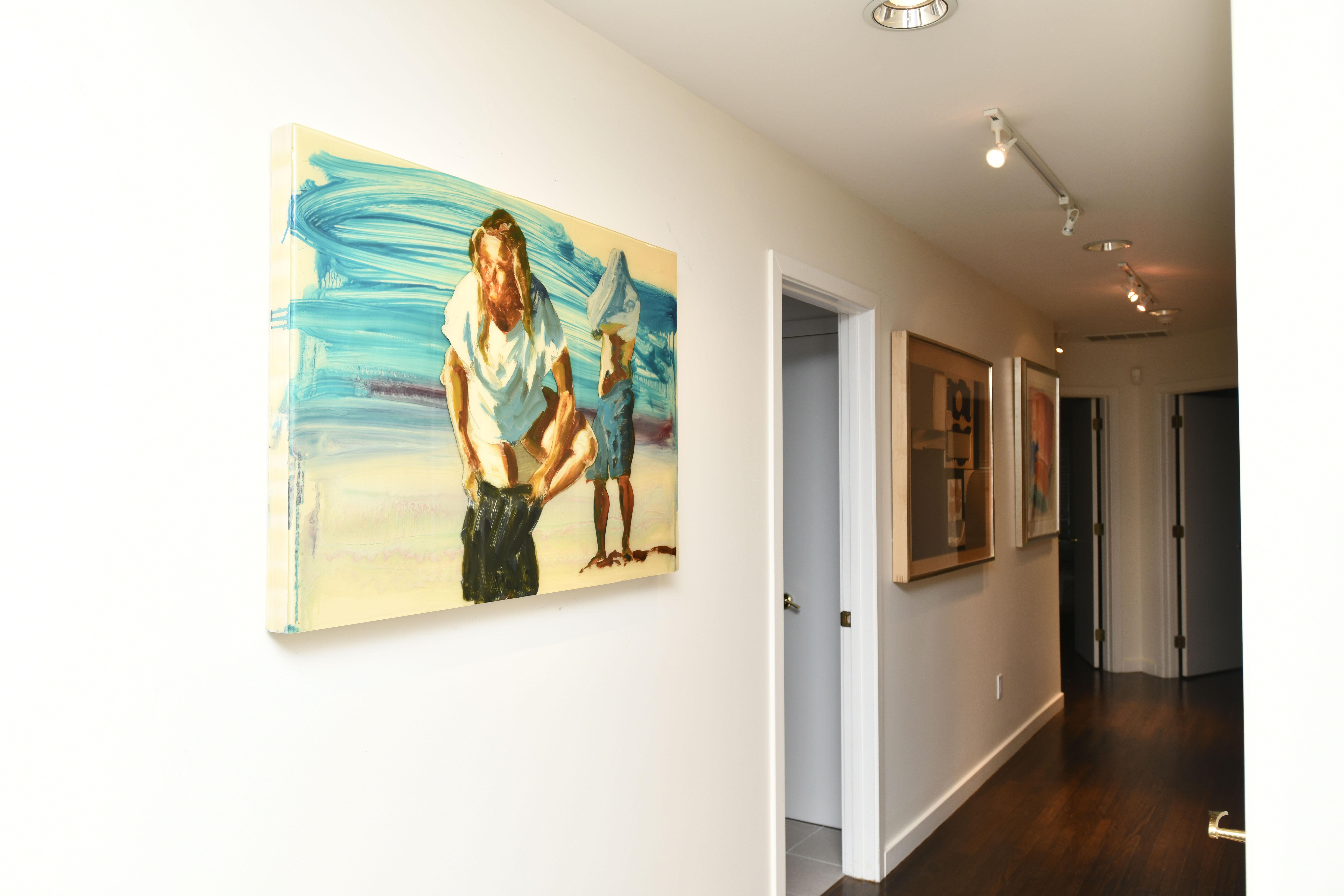 Artwork covers the walls in Rick Friedman's Southampton home. DANA SHAW