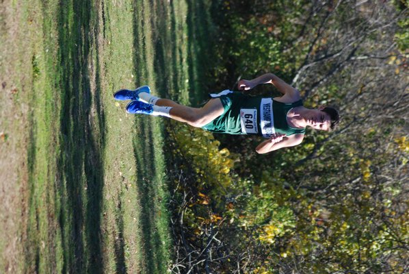 Jack Ryan during his final season on the Westhampton Beach cross country team. He is now head coach of the team.