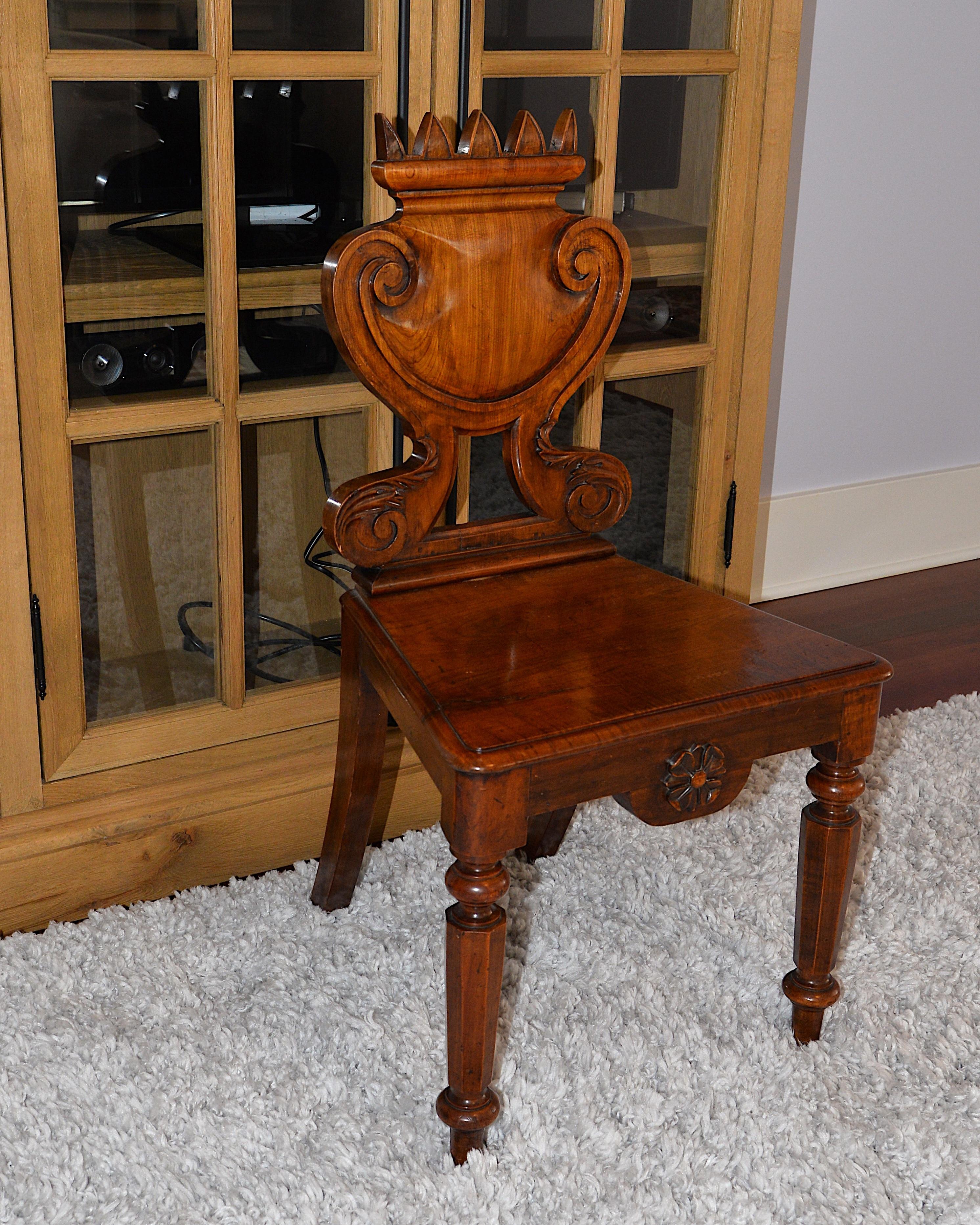 A Tudor rose chair