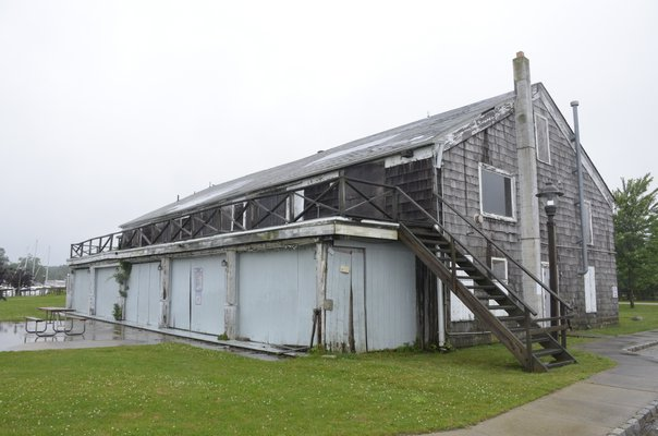 Southampton Town officials will contract Carter-Melence, Inc. to stabilize, lift and partially reconstruct the Tupper Boathouse in North Sea. GREG WEHNER