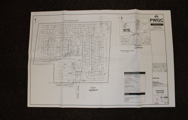 Map of the proposed housing development plan. RACHEL VALDESPINO