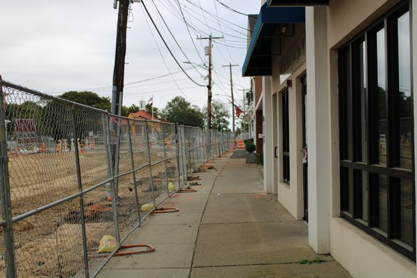 Sidewalks remain open during the construction. RACHEL VALDESPINO