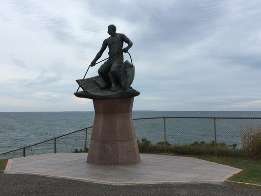 The Lost At Sea Memorial commemorates over 100 fisherman who were lost at sea. KYRIL BROMLEY
