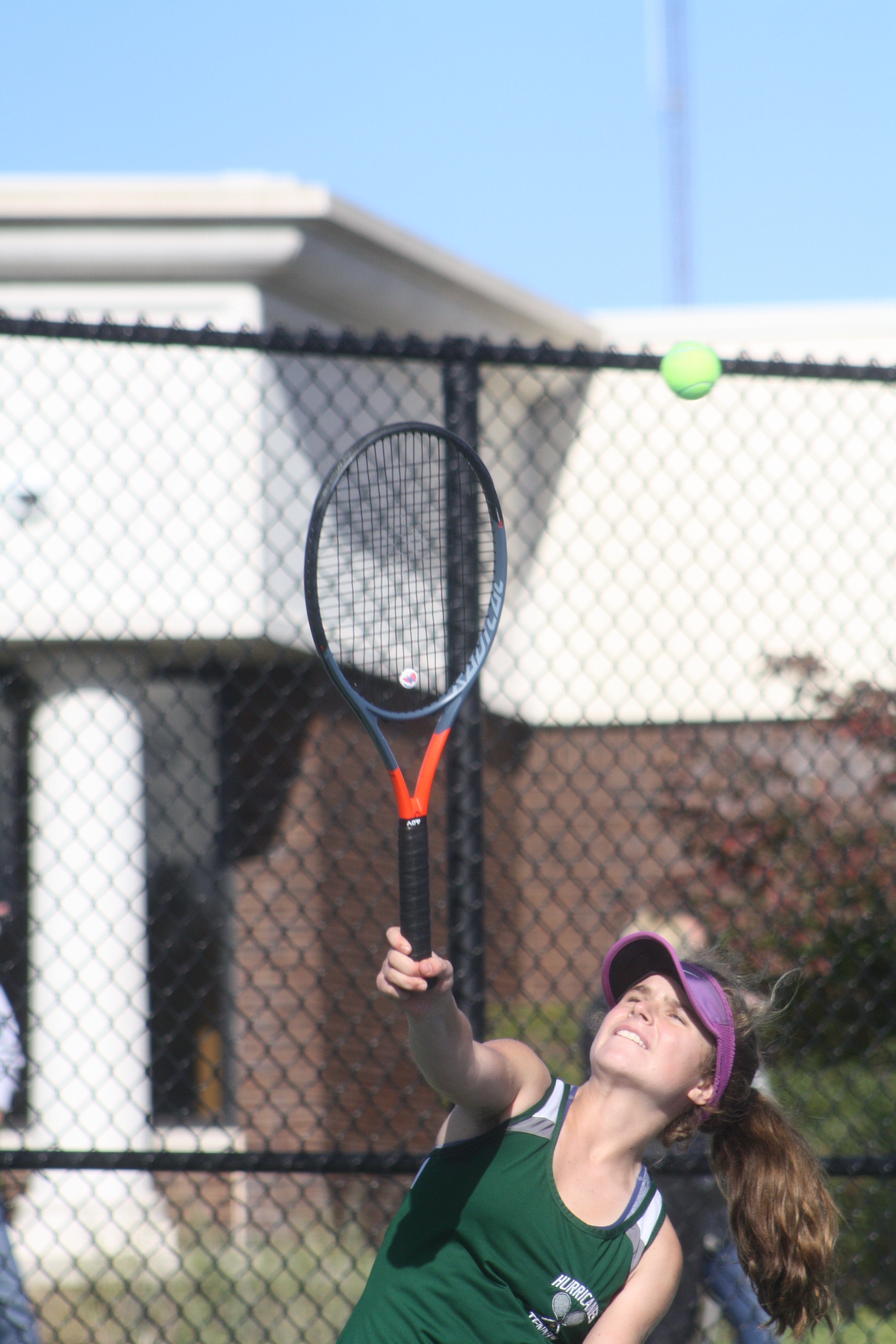 Julia Stabile's key point clinched the match for Westhampton Beach girls tennis on Monday afternoon.