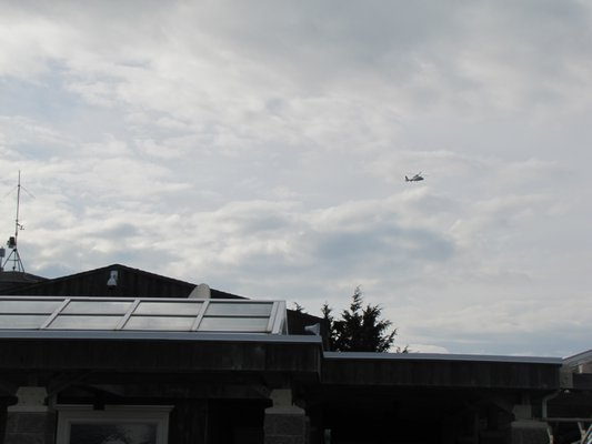 The town said one of Analar's helicopters flew just 100 feet over the airport terminal building.