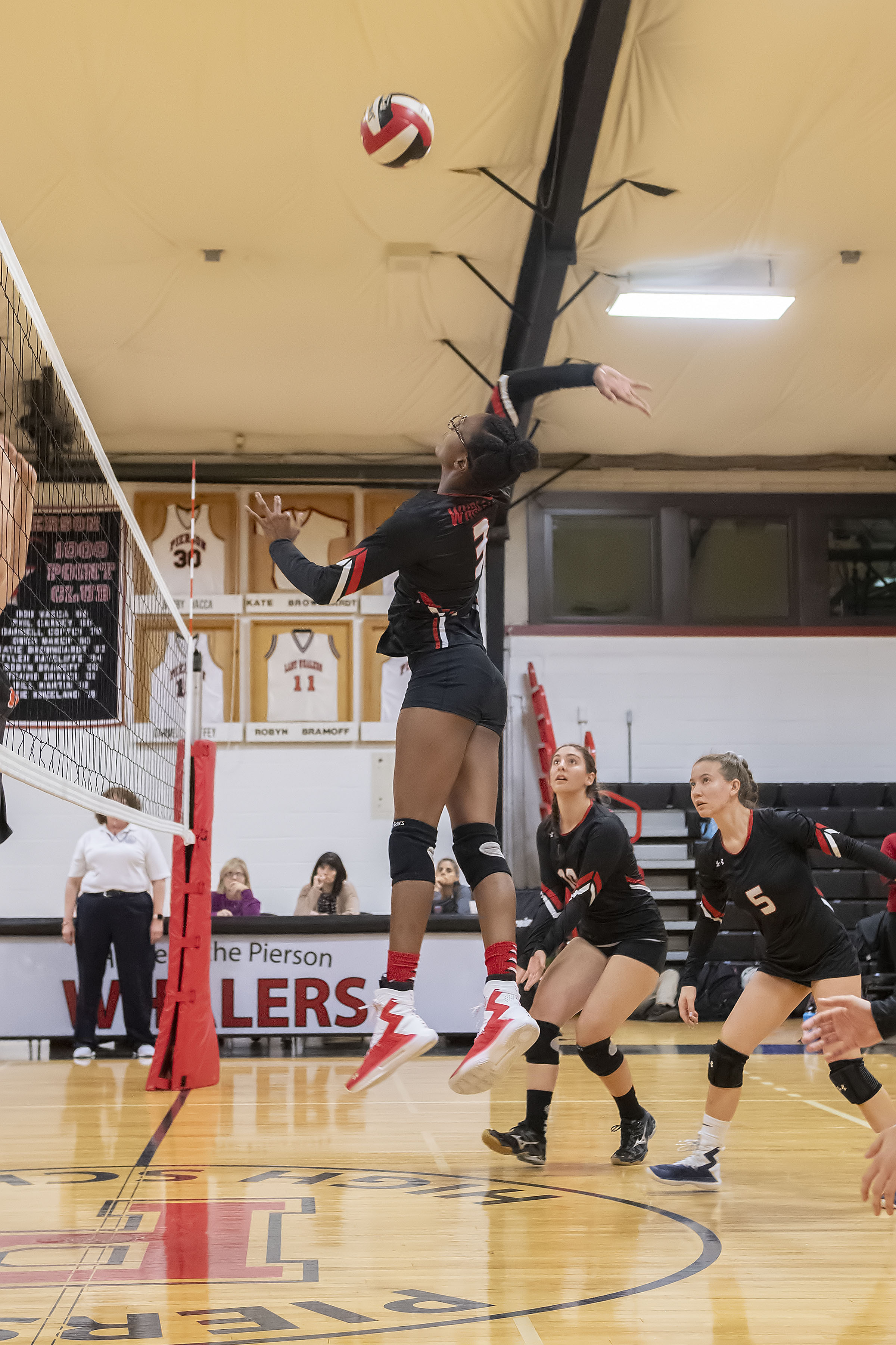 Pierson's Gylia Dryden goes up for a spike.