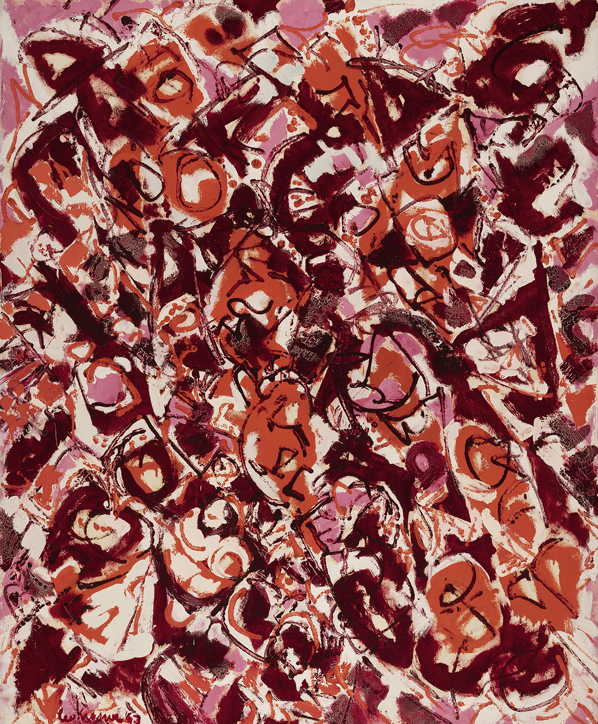 "Lee Krasner ""Untitled,"" 1963."