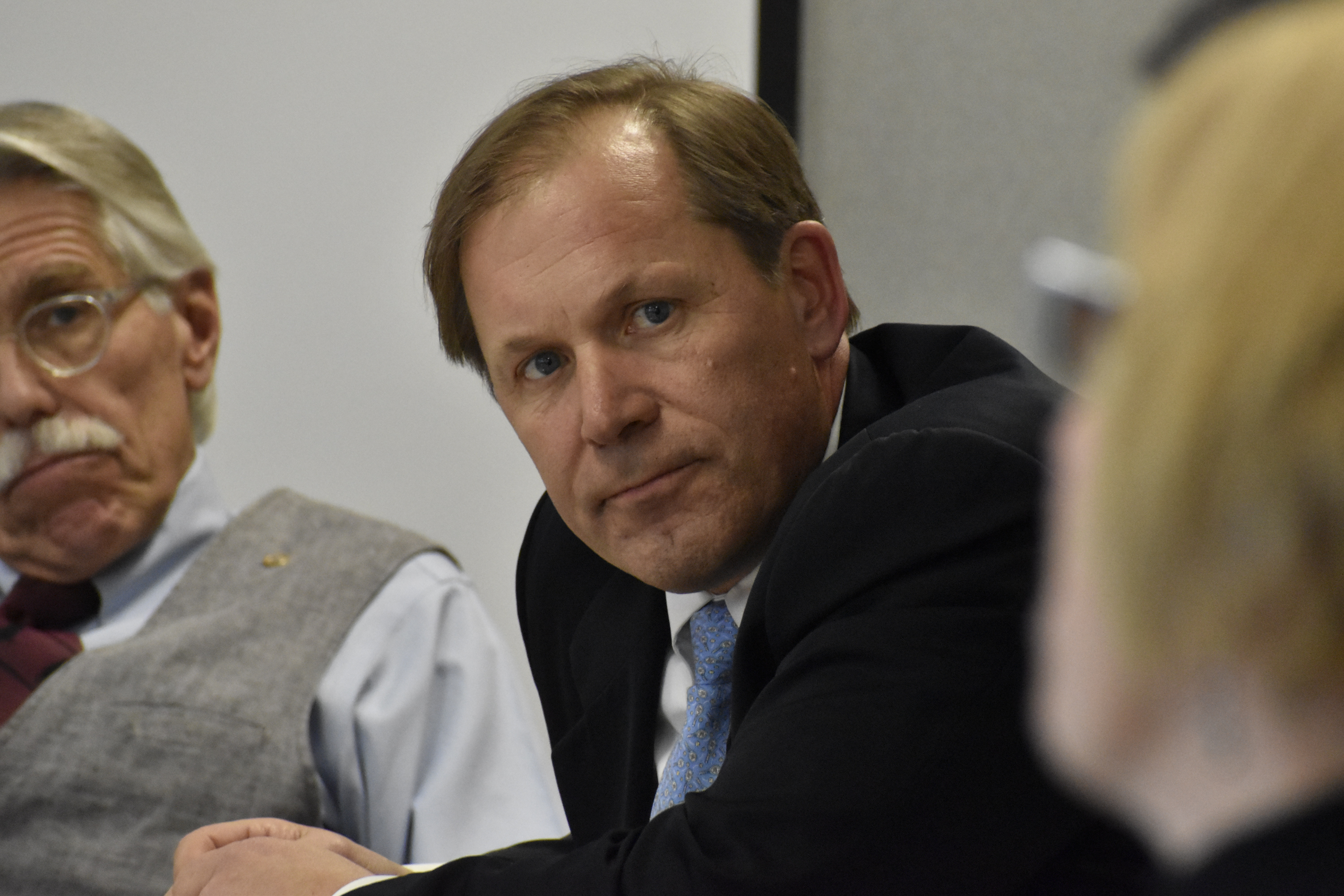 Southampton Town Planner Kyle Collins at a recent Central Pine Barrens Commission meeting. PRESS FILE