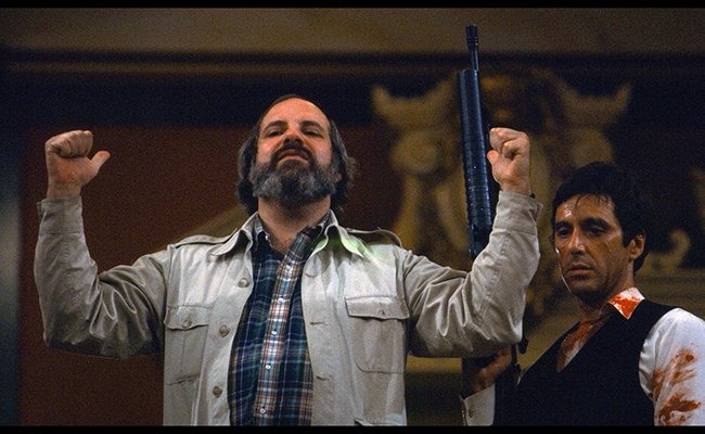 Brian De Palma and Al Pacino on the set of