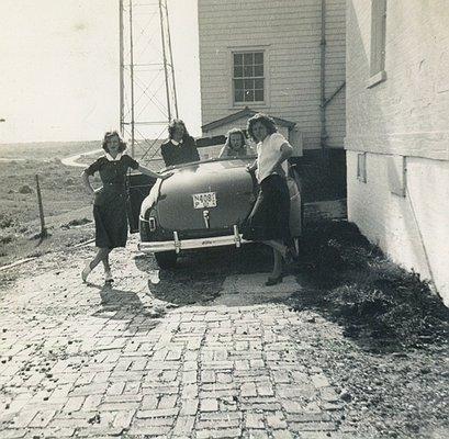Margaret (left) August 1941.