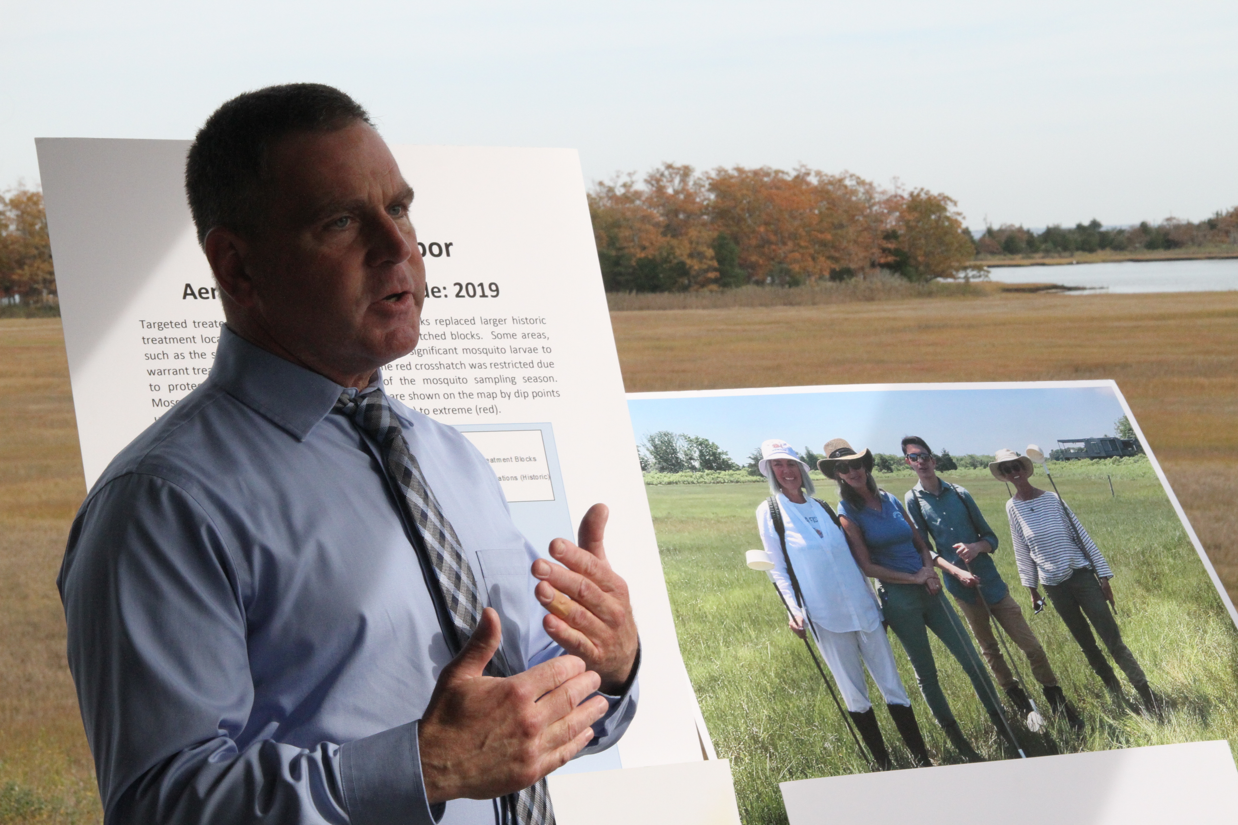 Suffolk County and East Hampton Town officials this week applauded the benefits that an East Hampton Town Trustees-led effort to reduce mosquito spraying over Accabonac Harbor has brought.