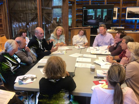 Members of the town's Business Advisory Committee discussion amendments to the live music permit law.