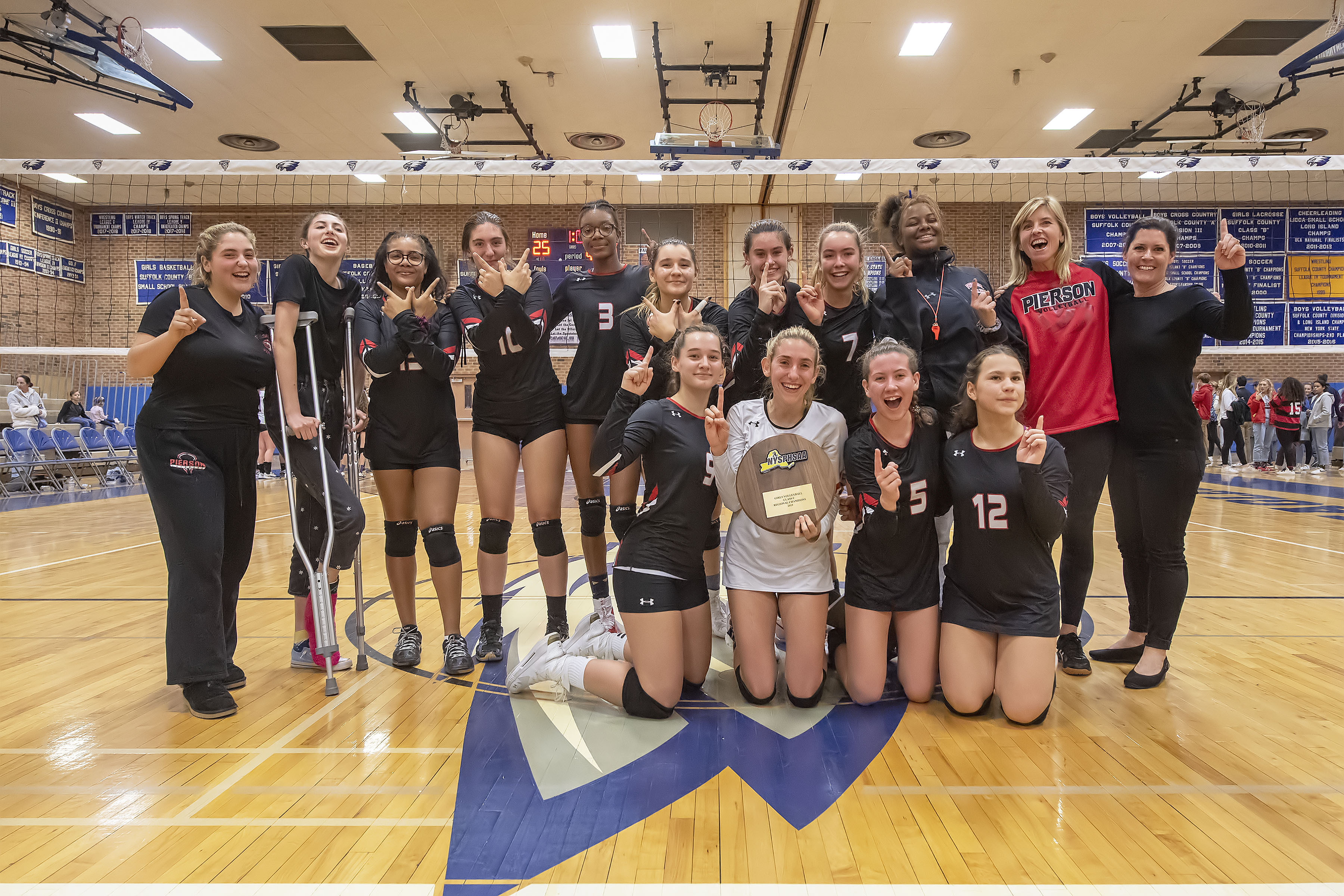 The Pierson Lady Whalers defeated the Oyster Bay Lady Baymen to win the Long Island Class C Volleyball Championship at Hauppauge High School on Saturday night.