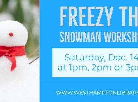 'Freezy the Snowman' workshop