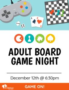 Adult Game Night @ RFL
